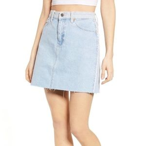 Tommy Jeans Frayed Light Wash Denim Mini Skirt